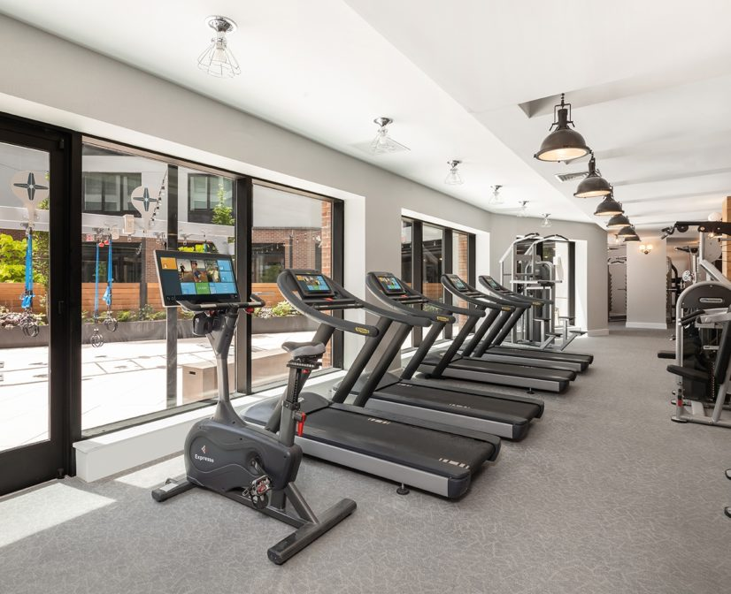 Top-of-the-Line Fitness Center with Yoga Room