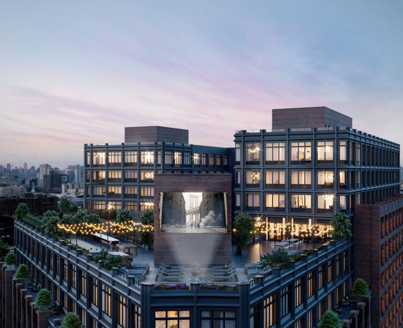 Rooftop Lounge with Brooklyn Skyline Views